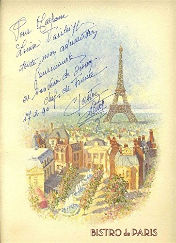 Bistro de Paris Menu France Epcot Center Walt Disney World Signed Gaston - France Signed