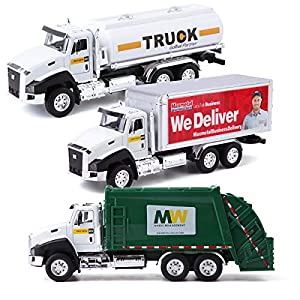 Best Epic Trends 51Sik0jzJ5L._SS300_ ArgoHome 3 Pack of Car Toy Set Play Vehicles in Carrier Truck, Postal Truck, Pull Back Car Toys with Opening Doors for…
