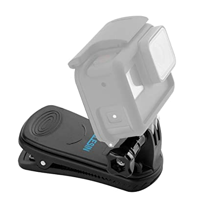 for GoPro Clip 360 Degree Rotary Sport Camera Clip Gopro Accessories Quick Release Clamp Mount on Hat Backpack Suitable for GoPro Hero Session 7 6 5 4 3 2018 Action Camera
