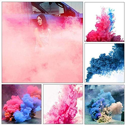 Pull Tube Round (5pcs Random Color Smoke Colorful Effect Show Round Stage Photography Aid Toy KSOP Fog)