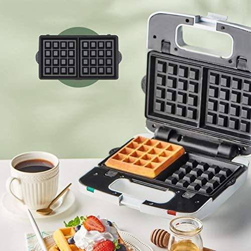 JZH-kitchen Gaufrier Machine À Sandwich avec Antiadhésif, Nettoyage Facile Plaques Amovibles, Contrôle Automatique De La Température, 700 W
