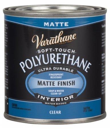 Varathane 262075 Half Pint Clear Matte Finish Soft Touch Polyurethane - 4 Pack -