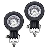 WEISIJI 10W Motorcycle Auxiliary Lights Led Work Light Modular Spot Lamp Truck Light for Offroad Led Lights Truck Car ATV SUV Jeep Boat Small Driving Lamp (Pack of 2 )
