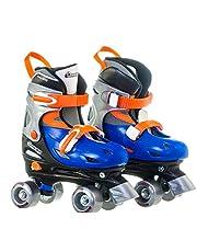 Chicago Boy's Adjustable Quad Roller Skate, Blue/Silver