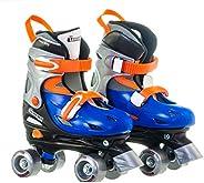 Chicago CRS215SM Skates Unisex Adjustable Quad Roller 10 Toddler - 13 Little Kid, Black/Red, Medium