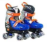 Chicago Boy's Adjustable Quad Roller Skate, Blue/Silver, Small