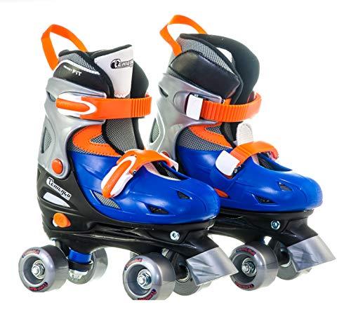 Chicago Boy's Adjustable Quad Roller Skate, Blue/Silver,...