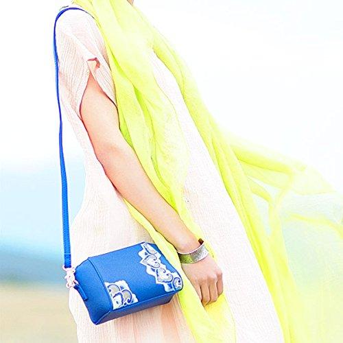 Gold Sac Sac Femme Slant Brodé Coquillages Main Multicolore Sac Main à à Sac Sac O0TqwOrgnx