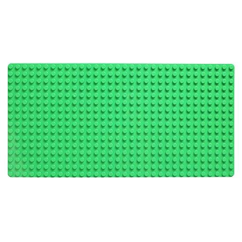 Große Grund- Bauplatte Mit Noppen Für Lego Duplo Ohne Steine - 51 cm x 26 cm, Rechteckig, Dunkelgrün Für Häuser uvm. - Riesige Platte Für Riesigen Spiel- und Bauspaß Mit Kindern - 1739 Von Katara