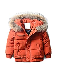 LJYH Boys' Puffer Jacket winter coat with fur