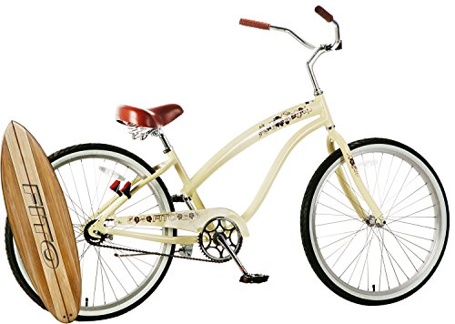 Fito Anti-Rust Aluminum Frame, Modena II Alloy Single 1-Speed - Vanilla, Women's 26