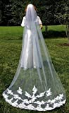 Bridal Wedding Gown Veil, Cathedral Length Veil