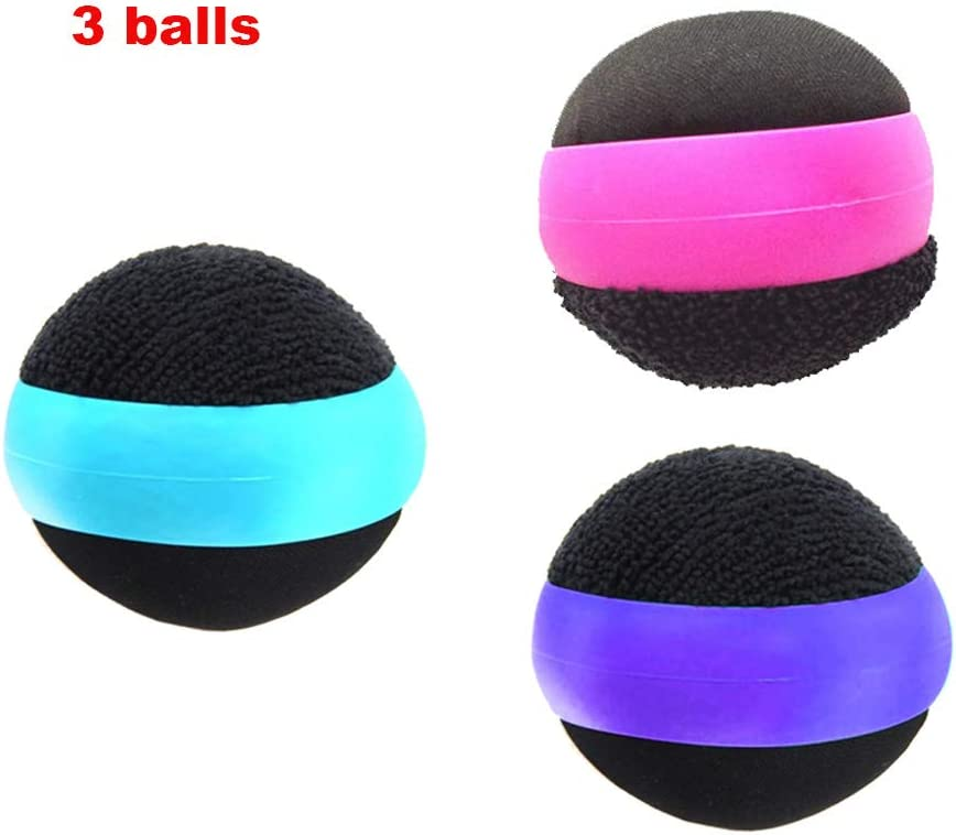 3 Pack Dual Action Touch Screen Glass Cleaner Cleaning Ball for iPad/Tablet/Smart Phone/Laptop/Computer/TV/Monitor Blue+Rose red+Purple
