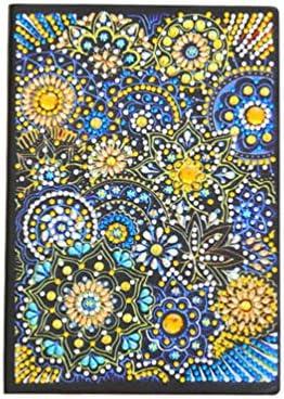 Healifty Diamant schilderij cover notebook journal notitieblok kleurrijke strass dagboek notitieboek A5 voor thuis school kantoor patroon 3