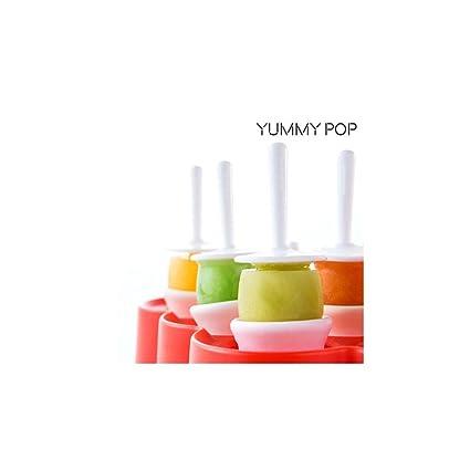 Appetitissime Yummy Pop Molde para Mini Helados, Rojo, 16,7 x 5 x