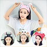 Convenient transportation bath water absorbing new Korean version of the influx of people jewelry cloth hair bands female stretch of street running in winter for women girl lady