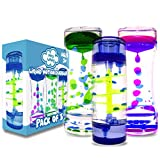 HeyWhey- Liquid Motion Bubbler Timer, 3-Pack Bundle Great for Gifts Parties Holidays, Calm and Relaxing Novelty Desk Toy, Sensory and Fidget Toys for Anxiety Autism ADHD Stress Relief Kids and Adults,