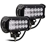 Kaleep 7″ 2PCS 36W Flood LED Work Light Bar Cree Led Super Bright Fog Lights Waterproof for Off Road SUV Jeep Truck Car ATVs Boat , 9-32V 3600LM ,2 Years Warranty