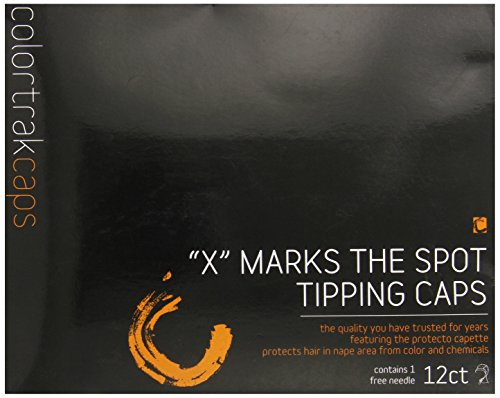 Colortrak X Marks the Spot Disposable Tipping Caps with Neck Protector (12Count + 1 Highlighting Needle)