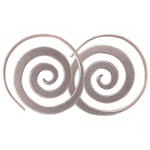 Beautiful Coil Earrings Karen Hill Tribe Pure Silver (Tribe Charms Coil Hill)