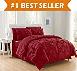 Luxury Best, Softest, Coziest 6-PIECE Bed-in-a-Bag Comforter Set on Amazon! Elegant Comfort - Silky Soft Complete Set Includes Bed Sheet Set with Double Sided Storage Pockets, Twin/Twin XL, Burgundy