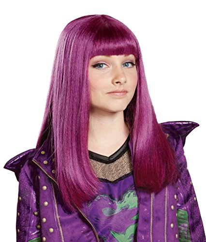 Disney Mal Descendants 2 Wig, One (Mal Disney Descendants Costume)