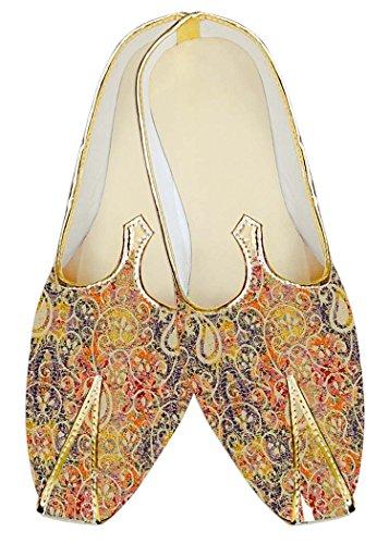 Florales Yute Zapatos Boda Seda Diseños Hombres INMONARCH MJ18319 Naranja CwxUp0q
