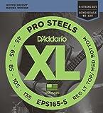 Best D'Addario Bottom Hybrids - D'Addario EPS165-5 5-String ProSteels Bass Guitar Strings, Custom Review