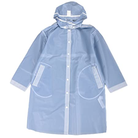 5ef85a71c Secutey Fog Blue Raincoat Detachable Hooded Matte Surface Waterproof  Raincoat Long Coat Jacket Raincoat (Size : XS): Amazon.co.uk: Kitchen & Home