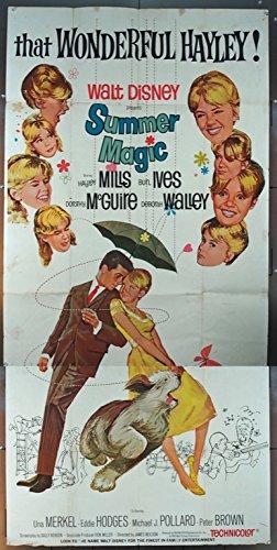 Summer Magic (1963) Original Three-Sheet Movie Poster (41x81) Good Condition Folded HAYLEY MILLS BURL (Summer Magic Hayley Mills)