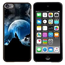 - Full Moon Wolf Wolves Howl Stars/ Hard Snap On Cell Phone Case Cover - Cao - For Apple iPod Touch 6 6th Generation