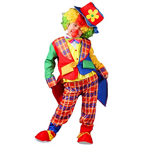 Kids Girls Boys Clown Halloween Costume Cosplay Circus Fancy Dress Outfits