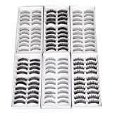 SODIAL(R) 60 Pair Assorted False Eyelashes Eyelash Makeup Party