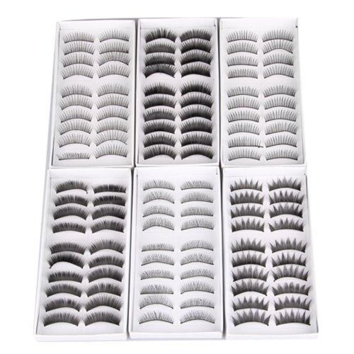 60X Falsche Künstliche False Unechte Wimpern Eyelash