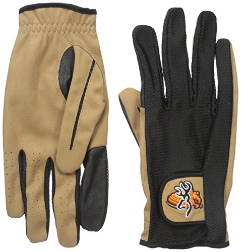 Browning Mesh Back Shooting Glove, Tan/Black, XX-Large-Tall