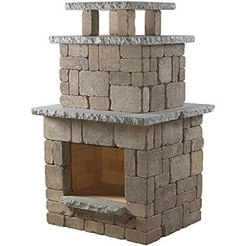 Necessories Compact Outdoor Fireplace in Bluestone