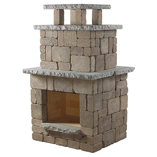 Necessories Compact Outdoor Fireplace in Bluestone by Necessories