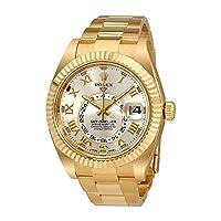 Rolex Sky Dweller Silver Dial 18 Carat Yellow Gold Oyster Mens Watch 326938SRO