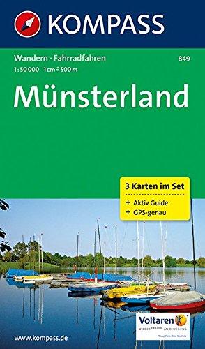 Münsterland: Wanderkarten-Set mit Radrouten und Aktiv Guide. GPS-genau. 1:50000 (KOMPASS-Wanderkarten, Band 849) Landkarte – Folded Map, 3. Oktober 2016 KOMPASS-Karten GmbH 3850267091 Nordrhein-Westfalen Alpinismus