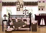 Modern Micro fiber Pink/Brown soft and cute 12 Pieces crib bedding set baby girl Reviews