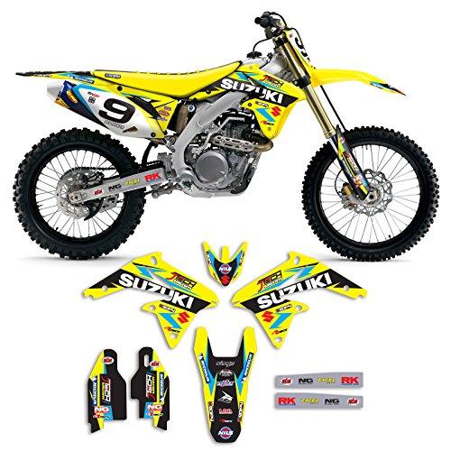 Factory Team Graphics (2008-2017 SUZUKI RMZ 450 Team JTech Motocross Graphics Kit By Enjoy Mfg)