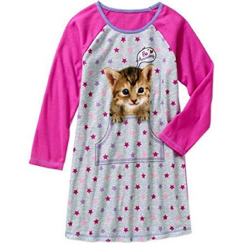 Big Girls XS - XL Puppy Dog Kitty Cat Sleep Gown Nightgow...