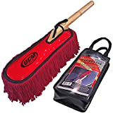 OCM Premium Extra Large Car Duster with Durable Solid Wood Handle Includes Storage Cover - Professional Detailers Top Choice