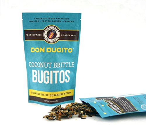 (Don Bugito Planet-Friendly Edible Insect Protein Snacks (Coconut Toffee Brittle Bugitos))