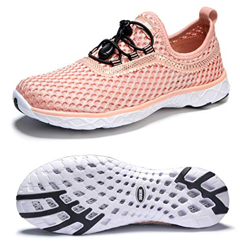 SUOKENI Women's Quick Drying Slip On Water Shoes for Beach or Water Sports Ultralight Walking Shoes