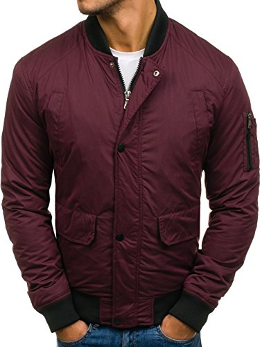 Sport Bomber Claret Transitional Mix BOLF Men's Zip 1769 4D4 Basic Jacket ZYpcSgqy