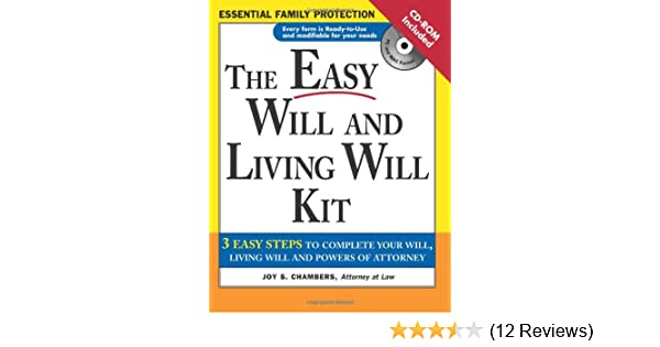 The easy will and living will kit easy will living will kit joy the easy will and living will kit easy will living will kit joy chambers 9781572484818 amazon books solutioingenieria Gallery
