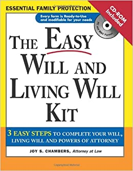 The easy will and living will kit easy will living will kit the easy will and living will kit easy will living will kit joy chambers 9781572484818 amazon books solutioingenieria Images
