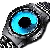 Bonjour Analogue Blue Unique Dial Ultra Platform Metal Black Belt Men Watch & Boys Watches-Bon_3