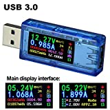 USB 3.0 Power Meter Tester Digital Multimeter Current Tester Voltage Detector DC 30.00V 4.000A Test Speed of Charger Cables QC 2.0/3.0 APPLE 2.4A